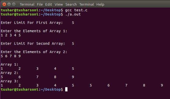 Sort Two Arrays using Merge Sort Algorithm in C Programming
