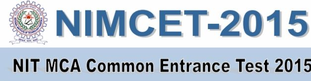 Download NIMCET MCA Previous Year Question Paper For Year 2015
