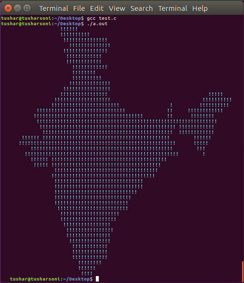 C Program To Print Map of India with Obfuscated Code