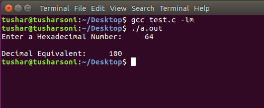 C Program To Convert Hexadecimal To Decimal using For and While Loop