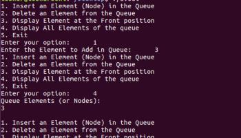 c program to implement queue using linked list