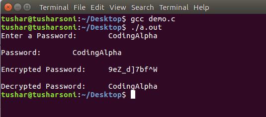 C Program For Encryption and Decryption using Caesar Cipher Algorithm