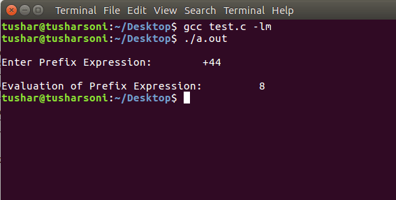 C Program To Evaluate Prefix Expression using Stack, Structure and Queues