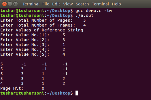 C Program To Implement LFU Page Replacement Algorithm in OS