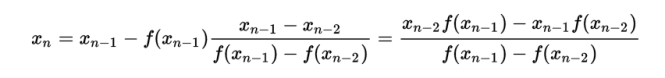 Secant Method Formula For Numerical Analysis
