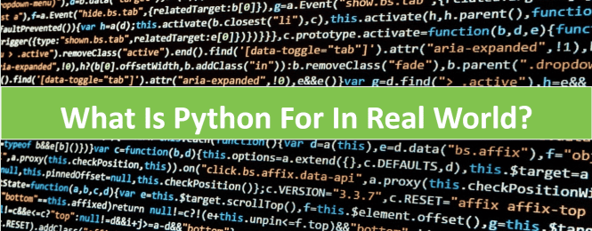 Find What is Python Used For in real life applications
