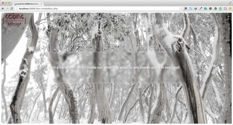 Frosted Blur Transparent Modal Popup With Css Js