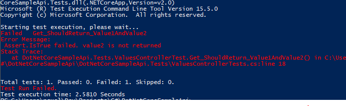.NET Core CLI tools magic with tests