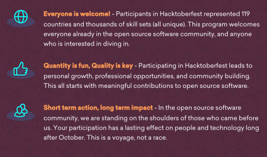 hacktoberfest values
