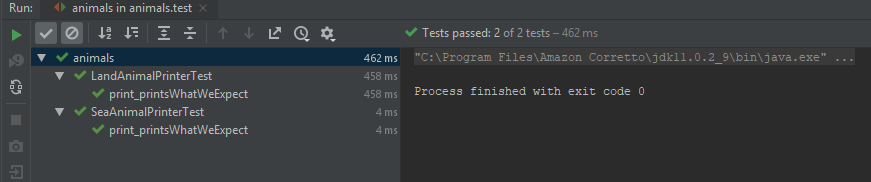 all the tests are green