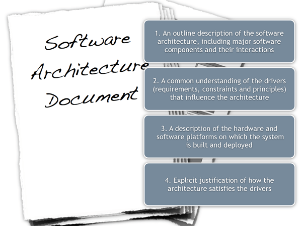 Software architecture document guidelines personal wiki an outline description of the software architecture including major software components and their interactions 2 a common understanding of the drivers malvernweather Images