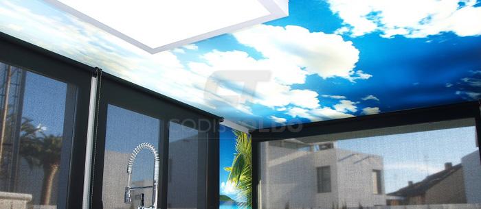 Revestimiento techos y paredes con lona tensada