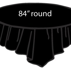 Disposable Folding Chair Covers Bulk Windsor Rocking Cushions Black 84 Inch Round Tablecloths Tablecovers Plastic