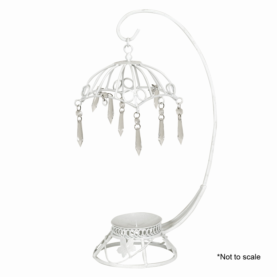 wire umbrella with hanging crystals is perfect for all