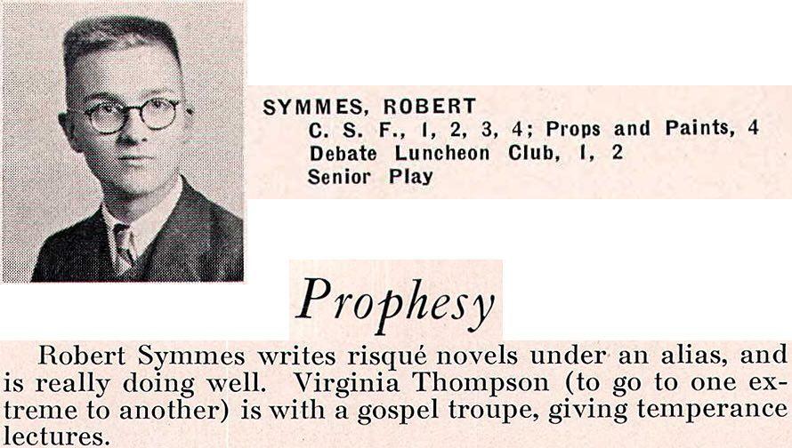 Happy birthday Robert Duncan (Symmes)! Bakersfield High, 1936