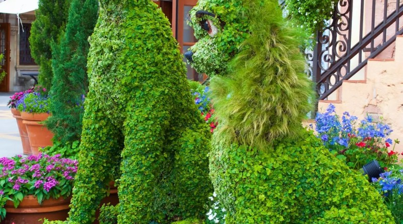 Lady-Tramp-Topiary-Epcot-Flower-Garden-Festival