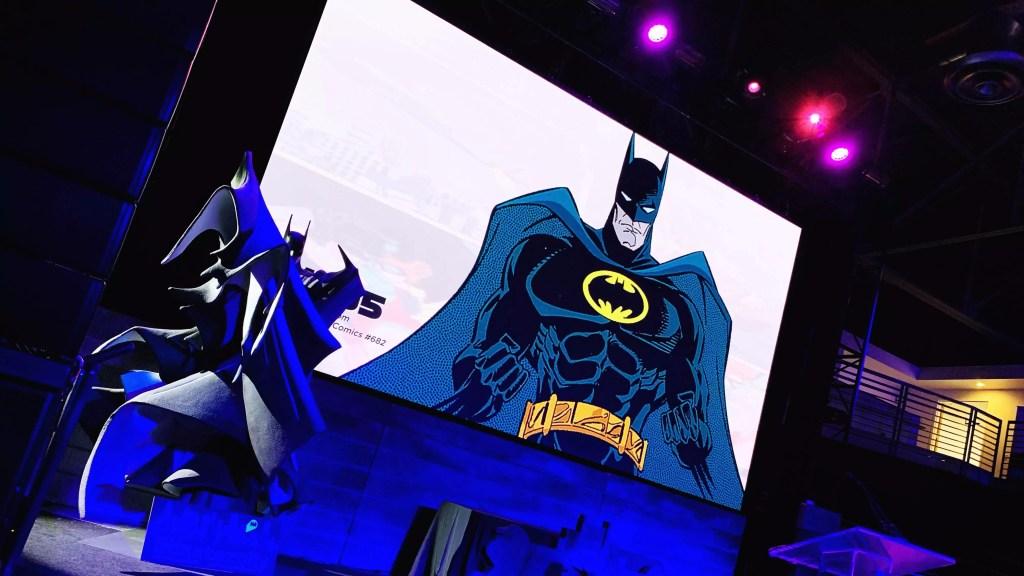Six foot black & white Batman statue designed by acclaimed artist Todd McFarlane