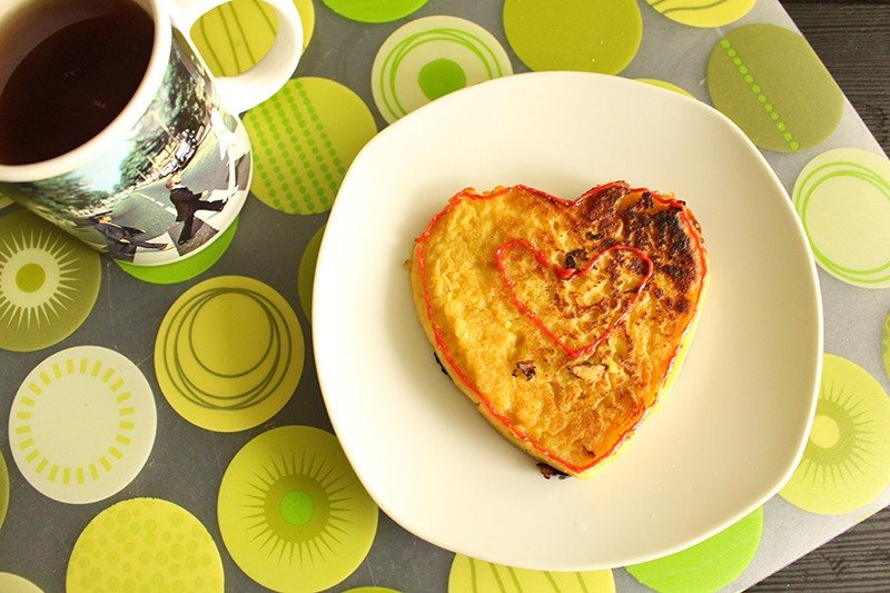 fit omlet i herbata - zdrowy posiłek