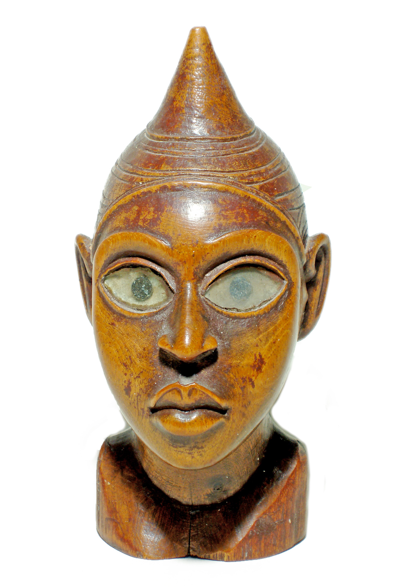 Wood head from Zaire