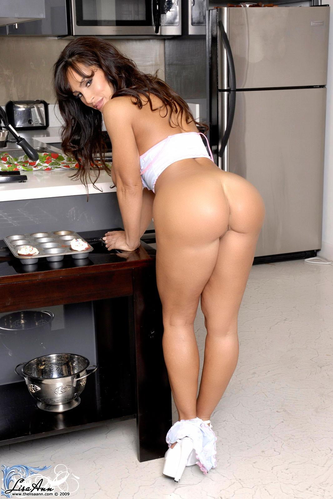 Pictures of Lisa Ann cooking up something sweet in the