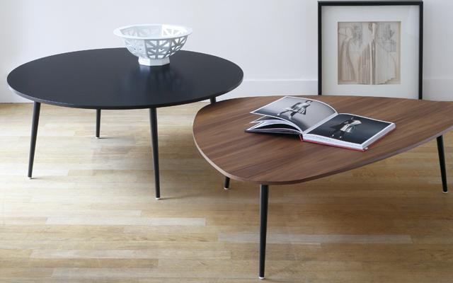 soho triangular coffee table coedition