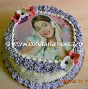 tort cu poza violetta
