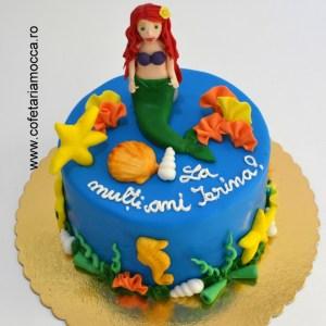 tort figurina sirena Ariel 02