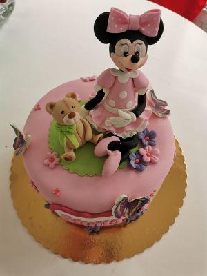 Tort fetite Minnie in Roz -COD 447