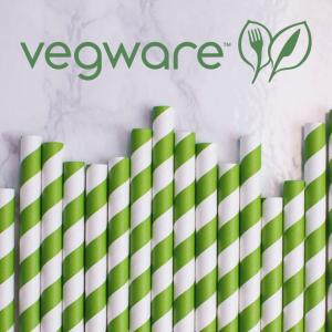 Green Stripe Straw