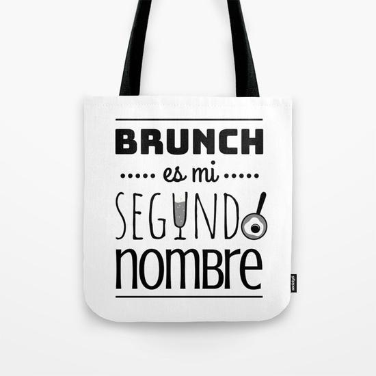 Bolsa de tela resistente - Brunch es mi segundo nombre