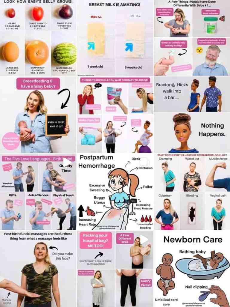 pregnancy instagram accounts - mommy labor nurse