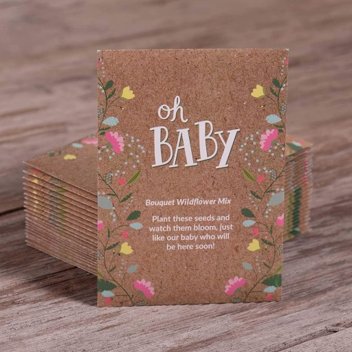seed packets for baby shower favors