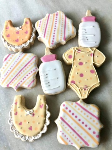 affordable baby shower favor sugar cookies