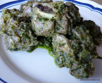 P1120292 1024x833 Green Masala Meat~Hare Masala Gosht