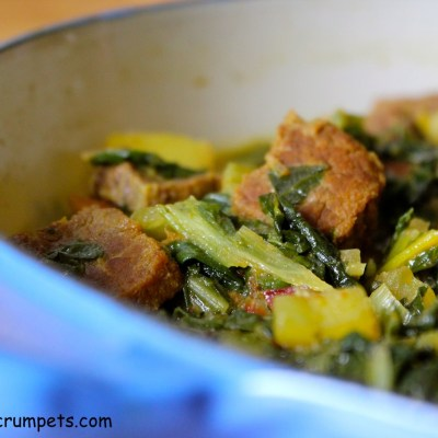 Indian Style Braised Beef with Rainbow Chard