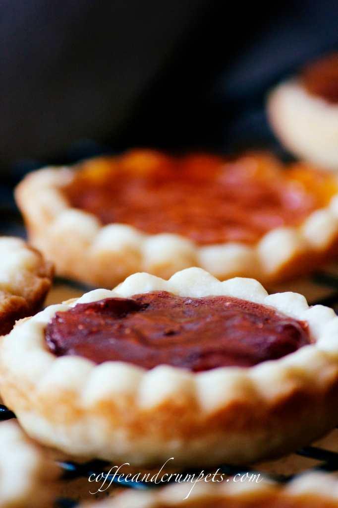 little strawberry jam tart