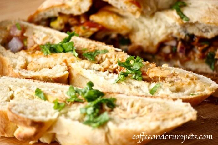 bbq chicken picnic loaf