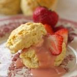 scone with rhubarb curd