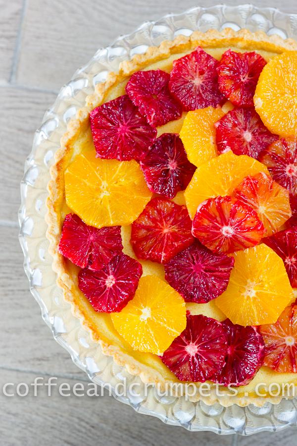Blood Orange and Ricotta Tart-7