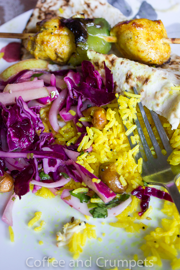 Lemon Rice and Chicken Kebab-2