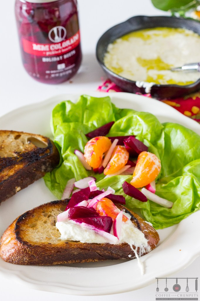 Beet Slaw with burrito cheese and grilled bread