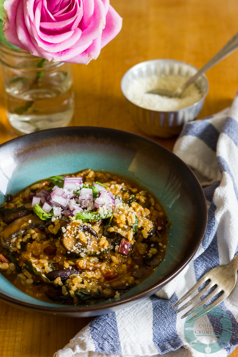 Red Chard and Mushroom Risotto
