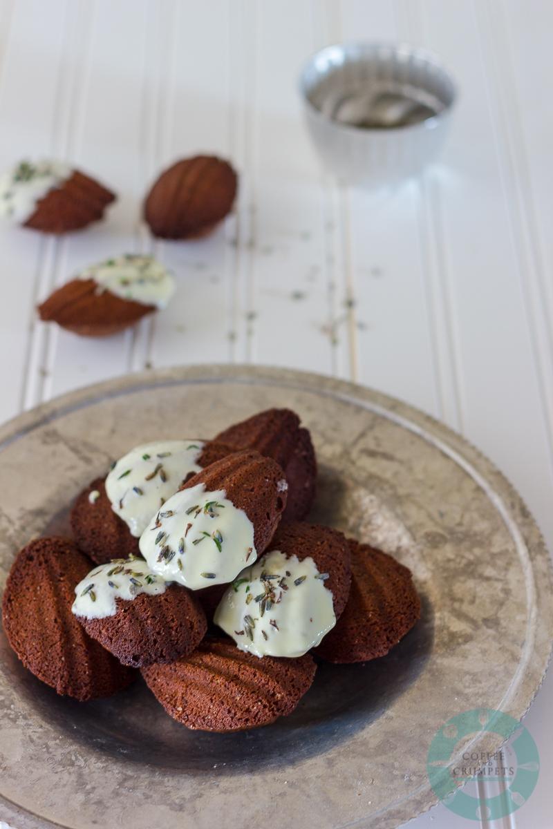 Chocolate Lavendar Madeleines