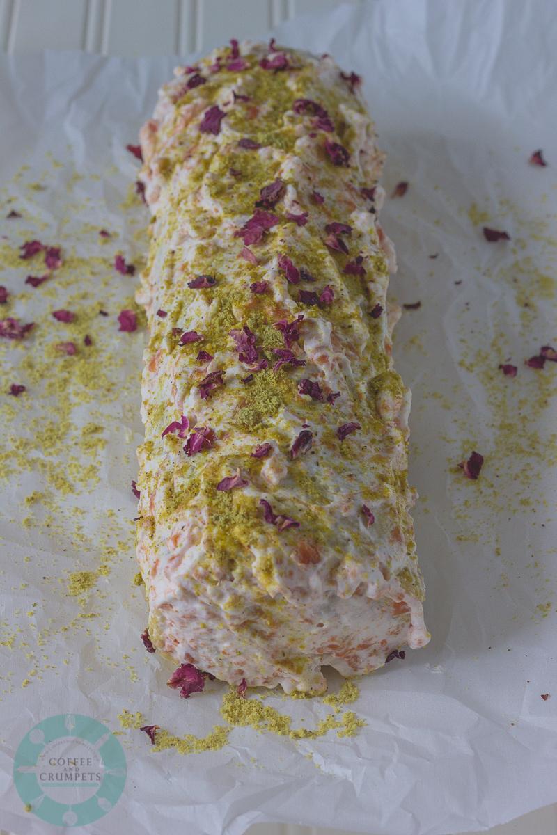 Persimmon Pistachio Roll Cake-