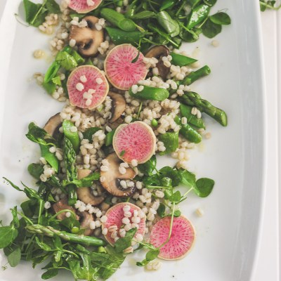 Barley Salad with Spring Vegetables