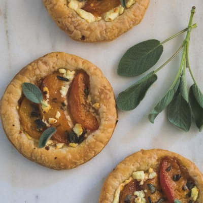 Honey Roasted Peach and Goat's Cheese Tartlets
