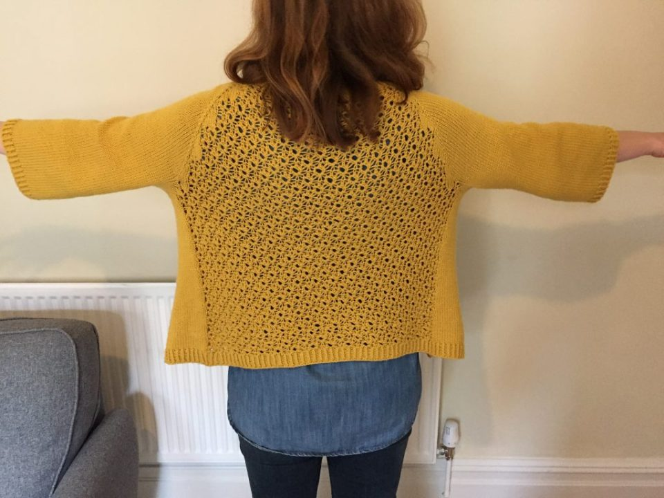 Toft Abergeldie Lace Cardigan - View From The Back