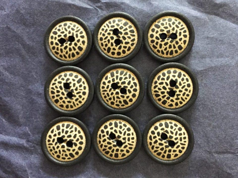 Textile Garden Wooden Buttons