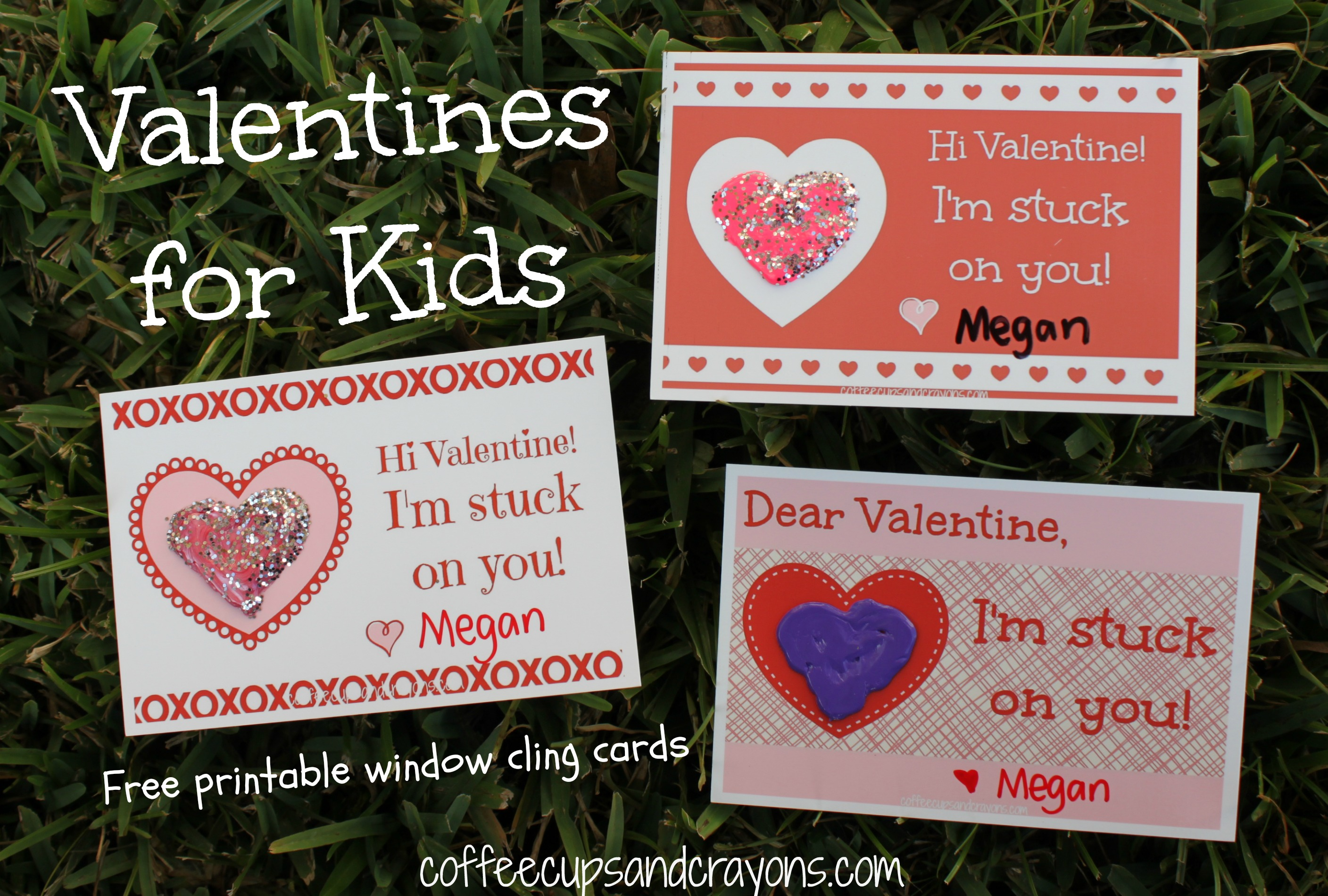Valentines For Kids I M Stuck On You Printable