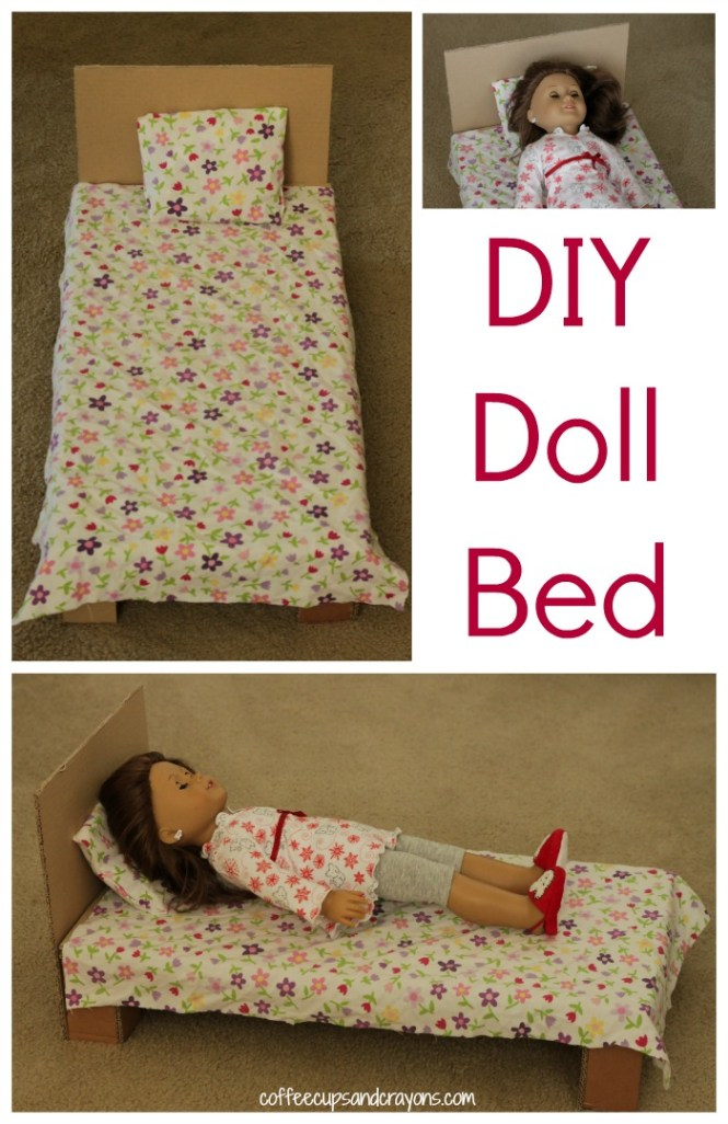 How To Make A Simple American Doll Bed With No Sew Bedding